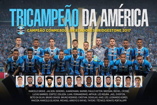 Grêmio Campeão da Libertadores da América de 2017 60050b22f8d6d